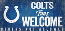 Indianapolis Colts Wood Sign Fans Welcome 12x6