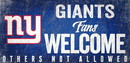 New York Giants Wood Sign Fans Welcome 12x6