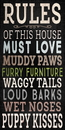 Pet Sign Wood Rules of the House 5