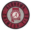 Alabama Crimson Tide Sign Wood 12 Inch Round State Design