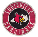 Louisville Cardinals Sign Wood 12 Inch Round State Design Special Order