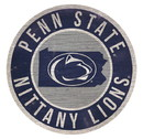 Penn State Nittany Lions Sign Wood 12 Inch Round State Design