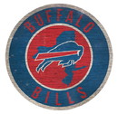 Buffalo Bills Sign Wood 12 Inch Round State Design