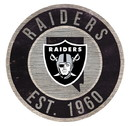 Oakland Raiders Sign Wood 12 Inch Round State Design