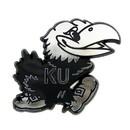 Kansas Jayhawks Auto Emblem - Silver