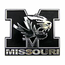 Missouri Tigers Auto Emblem - Silver