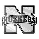 Nebraska Cornhuskers Auto Emblem - Silver