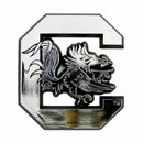 South Carolina Gamecocks Auto Emblem - Silver