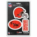 Cleveland Browns Decal Die Cut Team 3 Pack