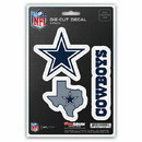 Dallas Cowboys Decal Die Cut Team 3 Pack
