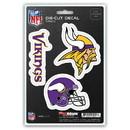 Minnesota Vikings Decal Die Cut Team 3 Pack