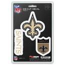 New Orleans Saints Decal Die Cut Team 3 Pack