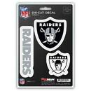 Oakland Raiders Decal Die Cut Team 3 Pack