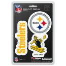 Pittsburgh Steelers Decal Die Cut Team 3 Pack