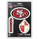 San Francisco 49ers Decal Die Cut Team 3 Pack