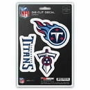 Tennessee Titans Decal Die Cut Team 3 Pack