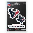 Houston Texans Decal Die Cut Team 3 Pack