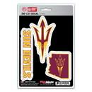 Arizona State Sun Devils Decal Die Cut Team 3 Pack