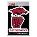 Arkansas Razorbacks Decal Die Cut Team 3 Pack