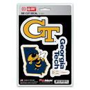 Georgia Tech Yellow Jackets Decal Die Cut Team 3 Pack