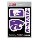 Kansas State Wildcats Decal Die Cut Team 3 Pack