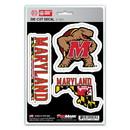 Maryland Terrapins Decal Die Cut Team 3 Pack