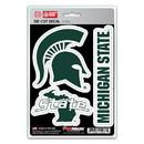 Michigan State Spartans Decal Die Cut Team 3 Pack