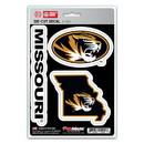 Missouri Tigers Decal Die Cut Team 3 Pack