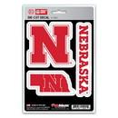 Nebraska Cornhuskers Decal Die Cut Team 3 Pack