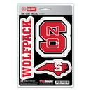North Carolina State Wolfpack Decal Die Cut Team 3 Pack