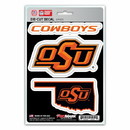 Oklahoma State Cowboys Decal Die Cut Team 3 Pack