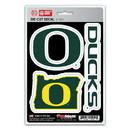 Oregon Ducks Decal Die Cut Team 3 Pack