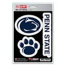 Penn State Nittany Lions Decal Die Cut Team 3 Pack