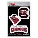 South Carolina Gamecocks Decal Die Cut Team 3 Pack