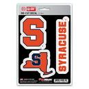 Syracuse Orange Decal Die Cut Team 3 Pack