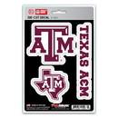 Texas A&M Aggies Decal Die Cut Team 3 Pack