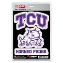 TCU Horned Frogs Decal Die Cut Team 3 Pack