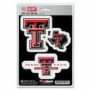Texas Tech Red Raiders Decal Die Cut Team 3 Pack