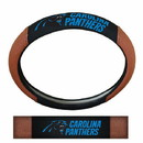 Carolina Panthers Steering Wheel Cover - Premium Pigskin
