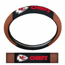 Kansas City Chiefs Steering Wheel Cover - Premium Pigskin