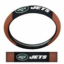 New York Jets Steering Wheel Cover - Premium Pigskin