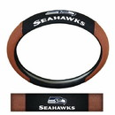 Seattle Seahawks Steering Wheel Cover - Premium Pigskin