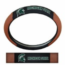 Michigan State Spartans Steering Wheel Cover - Premium Pigskin