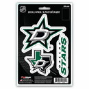 Dallas Stars Decal Die Cut Team 3 Pack