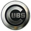 Chicago Cubs Auto Emblem - Silver