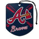 Atlanta Braves Air Freshener Shield Design 2 Pack