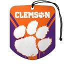 Clemson Tigers Air Freshener Shield Design 2 Pack