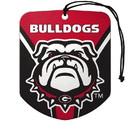Georgia Bulldogs Air Freshener Shield Design 2 Pack