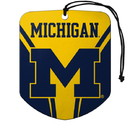 Michigan Wolverines Air Freshener Shield Design 2 Pack