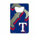 Texas Rangers Bottle Opener Credit Card Style - Special Order